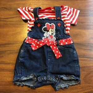 Disney baby Minnie Mouse overall set